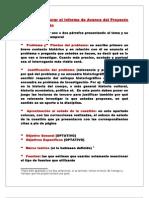 Guía para elaborar el Informe de Avance del Proyecto de Investigación