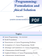 Linear Programming -Model Formulation, Graphical Method
