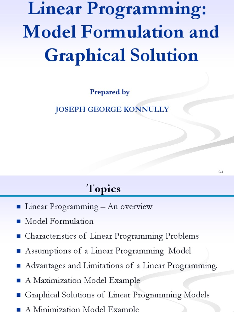 Minimization linear programming example