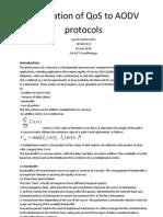 Qos AodV protocol