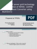 50-220 V DC Boost Converter design presentation