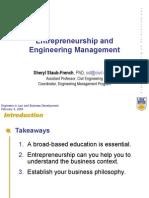 Entrepreneurship and Engineering Management