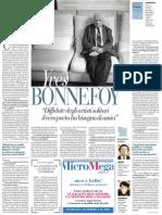 Intervista Al Poeta Yves Bonnefoy - La Repubblica 05.07.2013