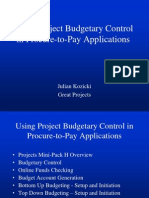 Budgetary Control in Procure to Pay