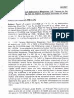 KS Tamang - Ishrat-Javed Report