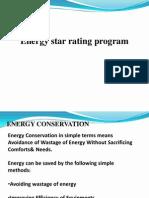 Energy Star Rating Programmes