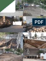 Foto's van de opbouw van het Kleine Avonturenpark