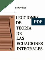 Lecciones de Teoría de las Ecuaciones Integrales - I. Petrovski