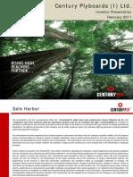 Century Investor Presentation Feb11