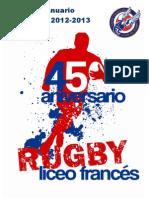 Memoria 2012. 2013 Liceo Frances Rugby