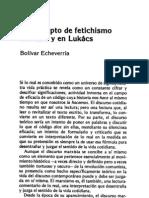 Fetichismo Marx Lukacs