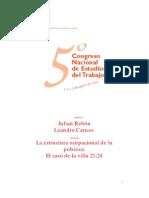 La Estructura Ocupacional de La Pobreza. El Caso de La Villa 21-24 (Rebon J. - Caruso L., 2001)
