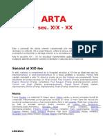 ARTA sec XIX XX