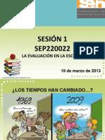 La Evaluacion en La Escuela -Sesion 1