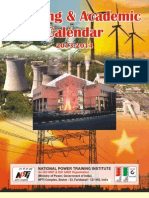 Training&Academic Calendar 2013-2014