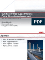 Clinton+Glanville+ +CSG+Facility+Pipe+Support+Options+Piping+Stress+Analysis+Approach
