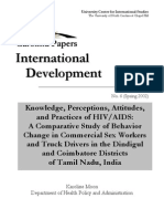 Knowledge Perceptions Attitudes and Practices of Hiv Aids a Comparative Study of Behavior Change in Commercial Sex Workers and Truck Drivers in the Dindigul and Coimbatore Districts of Tamil Nadu.original