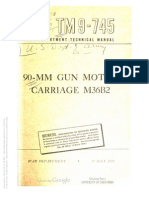 TM 9-745 90MM MOTOR GUN CARRIAGE M36B2