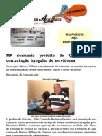 MP denuncia prefeito de Quixaba por contratação irregular de servidores