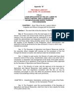 CA 141- Present Public Land Act