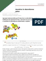 Rolul Jucariilor Educative in Dezvoltarea Intelectuala a Copiilor