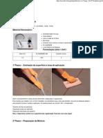 Método para fazer Cimento queimado