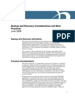Backup Recovery Best Practices
