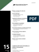 UP 102 Cuadernos Del Centro de Estudios Alicia Entel de La Totalidad a La Complejidad