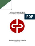 Procuración penitenciaria federal - Procedimiento de Monitoreo cárceles federales