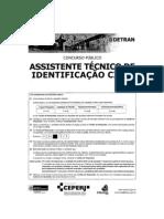 Ceperj 2009 Detran Rj Assistente Tecnico Identificacao Civil Prova (1)