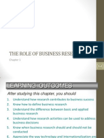 Chapter 1 the Role of Business Research (1)