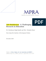 Job Satisfaction-MPRA Paper 29667