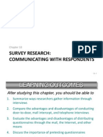 Chapter 10 Survey Research - Communicating With Respondents