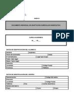 DOCUMENTO INDIVIDUAL DE ADAPTACIÓN CURRICULAR SIGNIFICATIVA