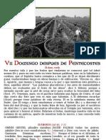 VII DOMINGO DESPUES DE PENTECOSTÉS. Folleto PDf bilingüe