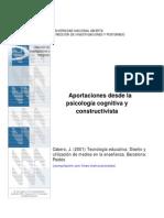 Aportaciones desde la Psicología Cognitivista y Constructivista
