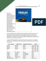 Yacimientos paleontológicos y fósiles