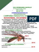 CAMPAÑA PARASITOS 2011 2