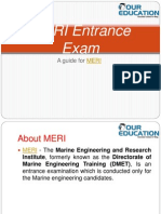 Meri Entrance Exam