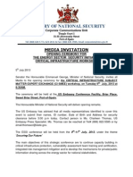 Energy Security Media Invitation