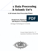 Seismic Data Processing With Seismic Unix