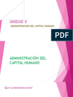 Unidad II Adminsitracion Del Capital Humano