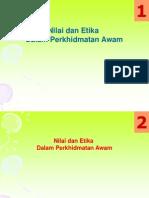 Etika & Nilai Murni Dlm Perkhidmatan