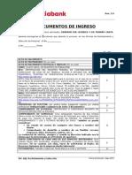 Documentos de Ingreso Sin BDC - Banco