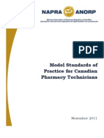 Model Standards of Practice for Pharmacy Technicians