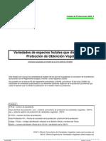 Listado Protecciones TOV 2009 3