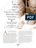 An Ecological Perspective on Parents' Relationships and Parent-Infant Interaction