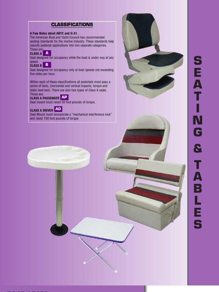 Garelick 75345 Flush Mount Socket Base For Stowable Table Pedestal