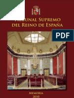 Memoria 2010 Tribunal Supremo