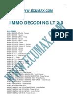 Immo Lt2.0 Lista Completa
